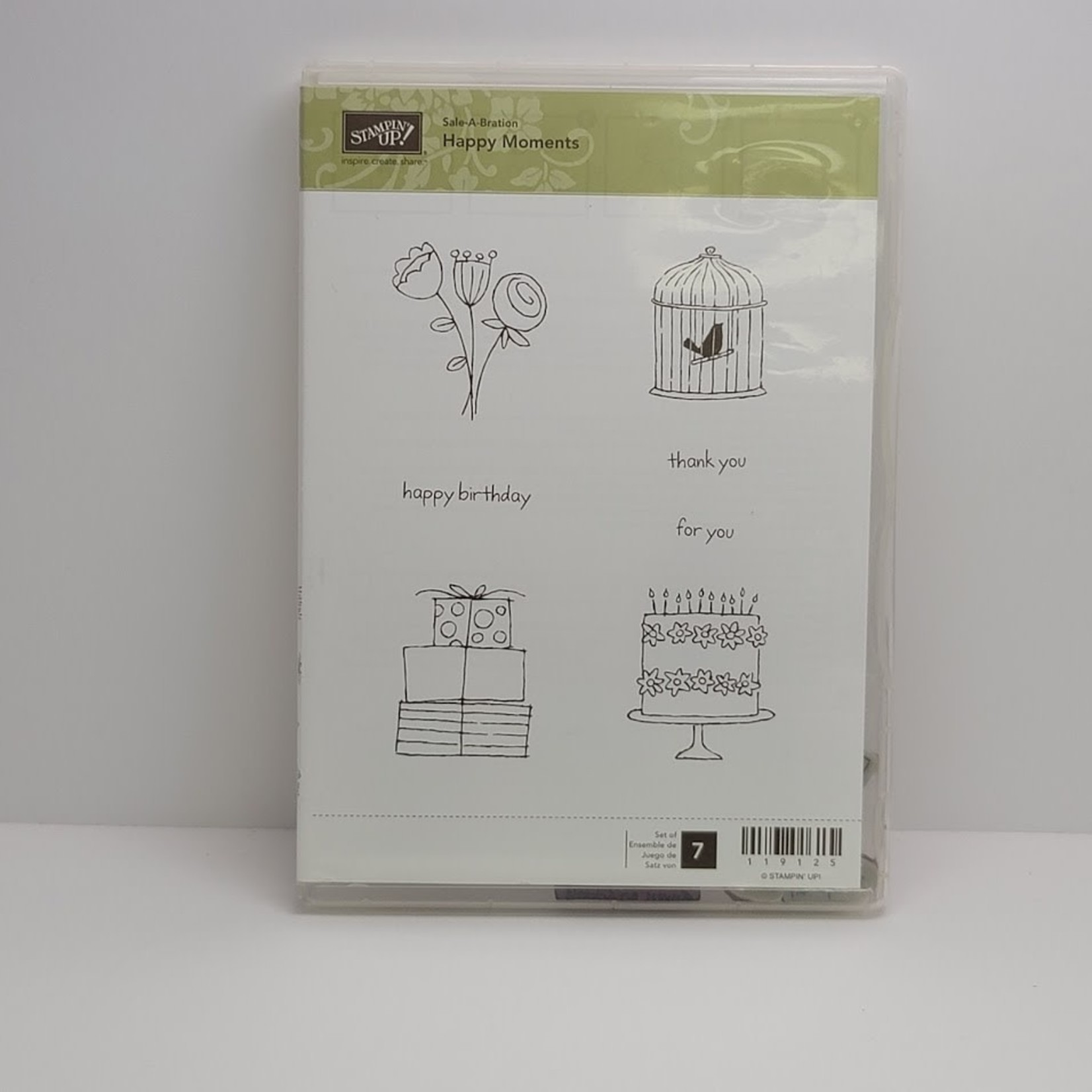 Stampin' Up Stampin' up - Cling Stamps - Happy Moments