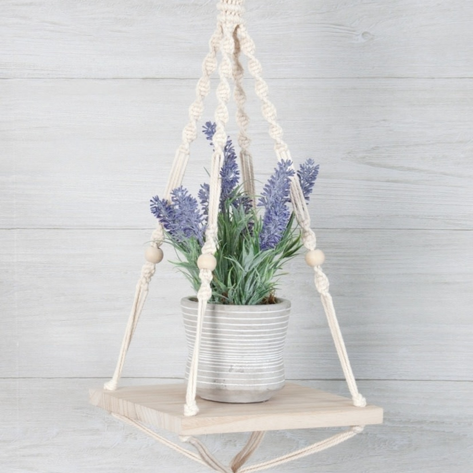 Solid Oak Inc Macrame Kit - Hanging Shelf - Square