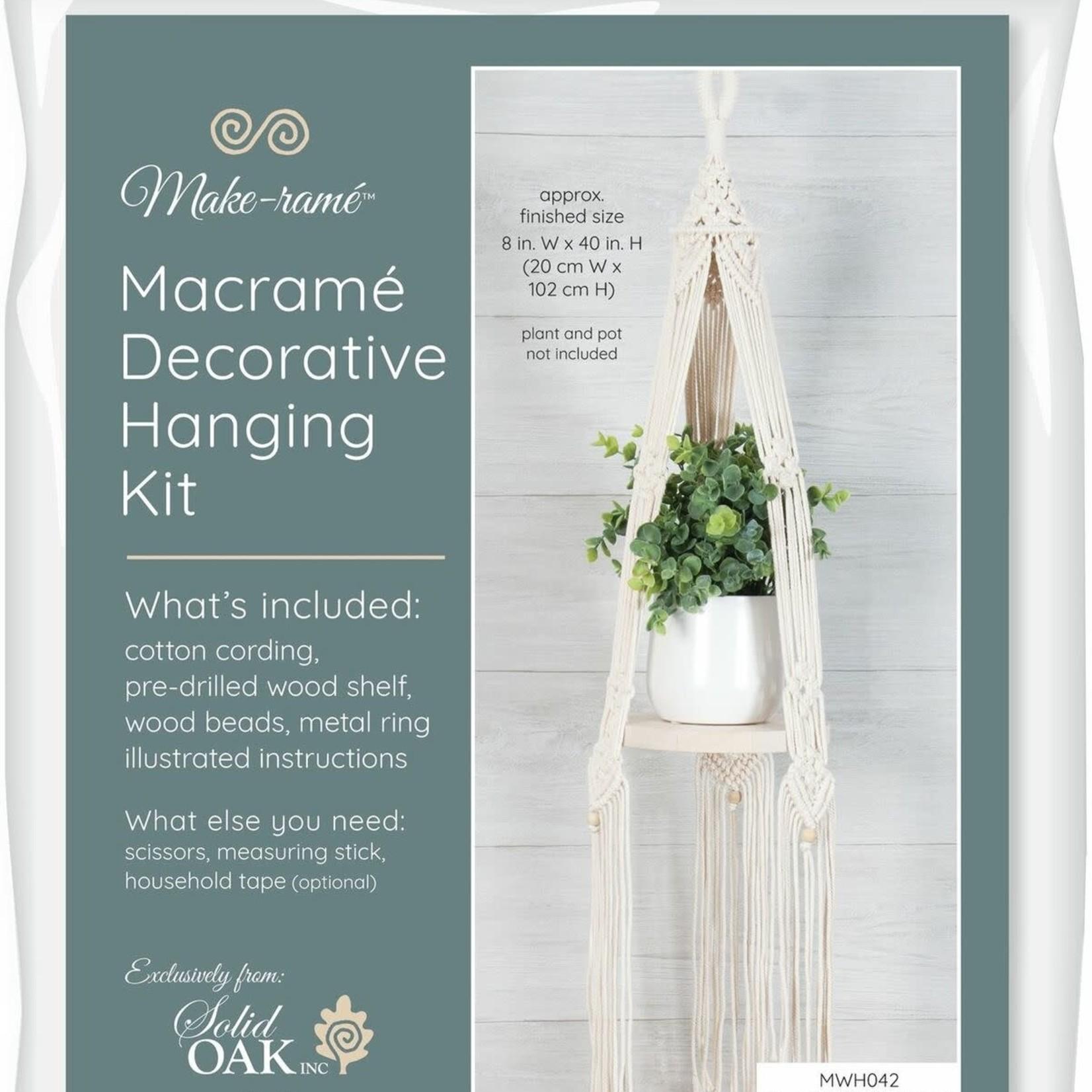 Solid Oak Inc Macrame Kit - Hanging Shelf - Round