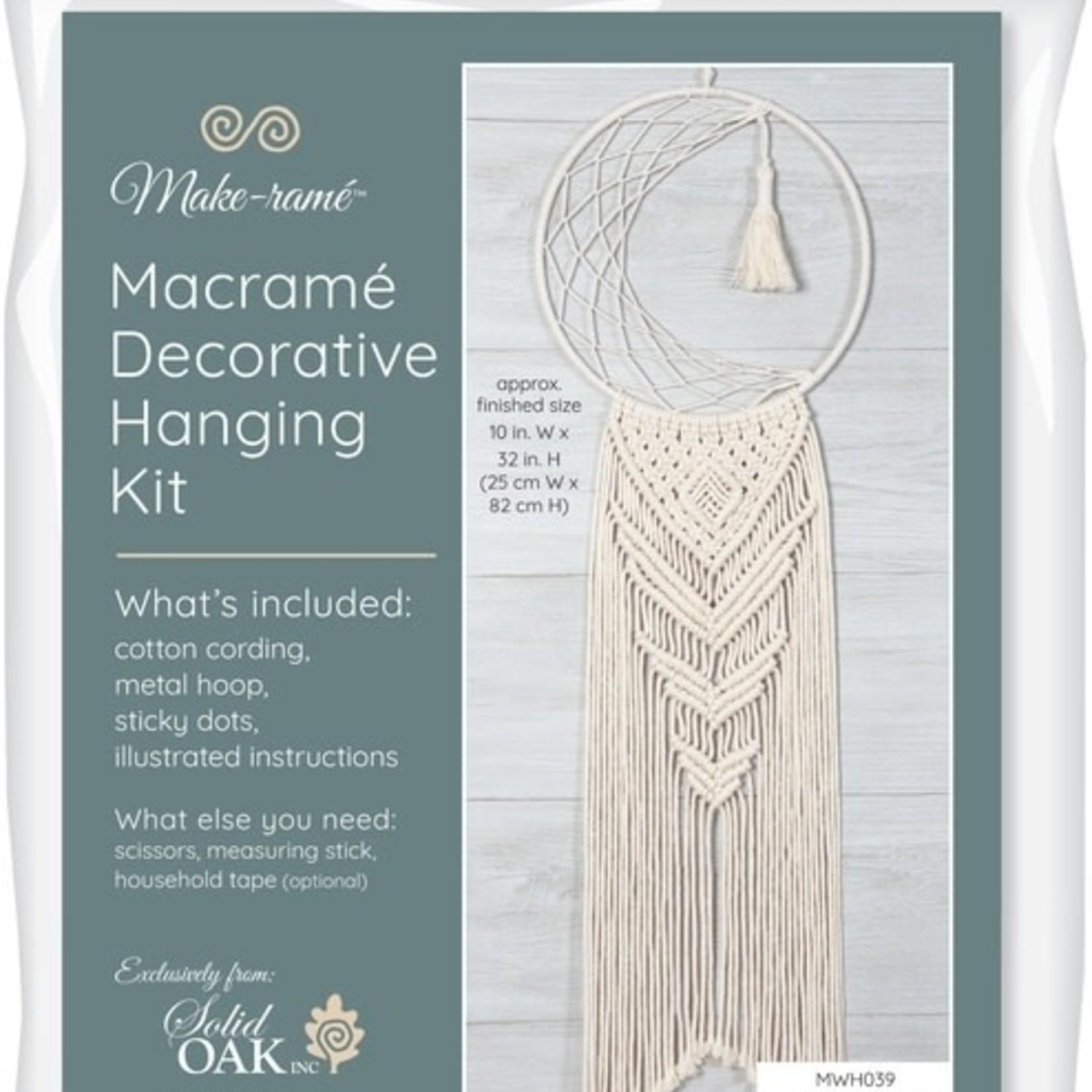 Solid Oak Inc Macrame Kit - Moon Dreamcatcher