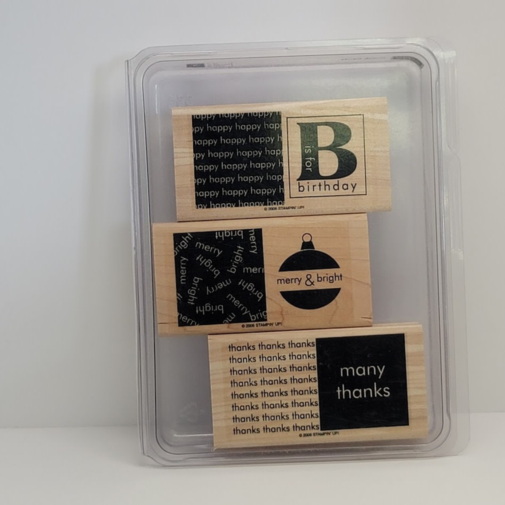 Stampin' Up Stampin' Up - Wooden Stamp Set - Quick Cards