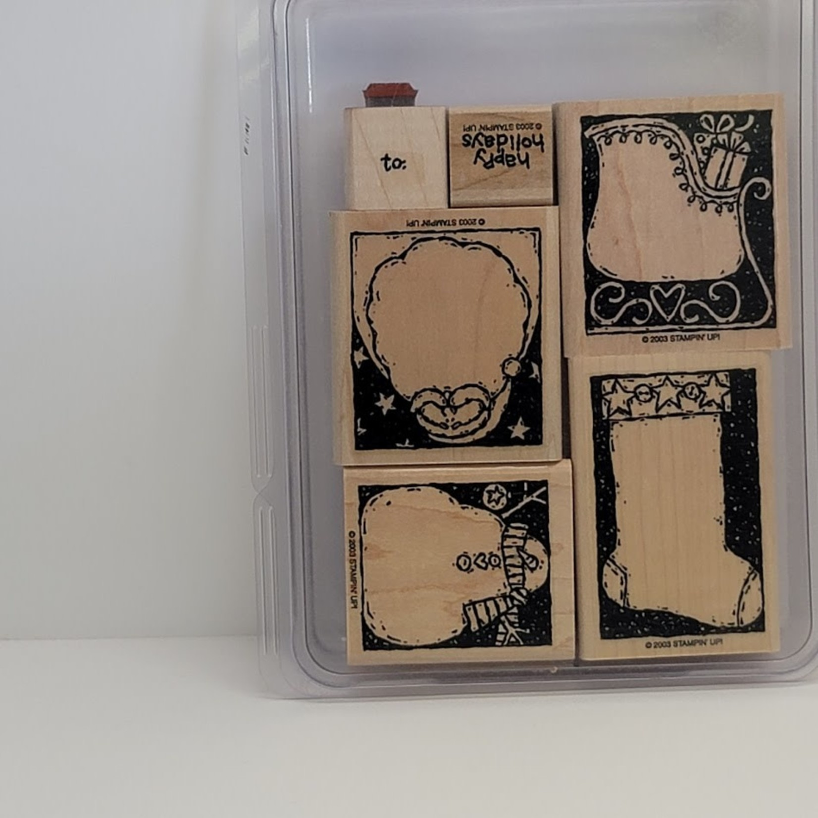 Stampin' Up Stampin' Up - Wooden Stamp Set - Holiday Woodcuts