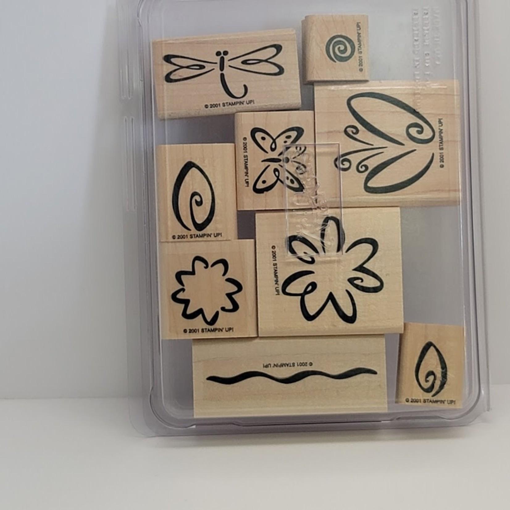 Stampin' Up Stampin' Up - Wooden Stamp Set -Fresh Flowers