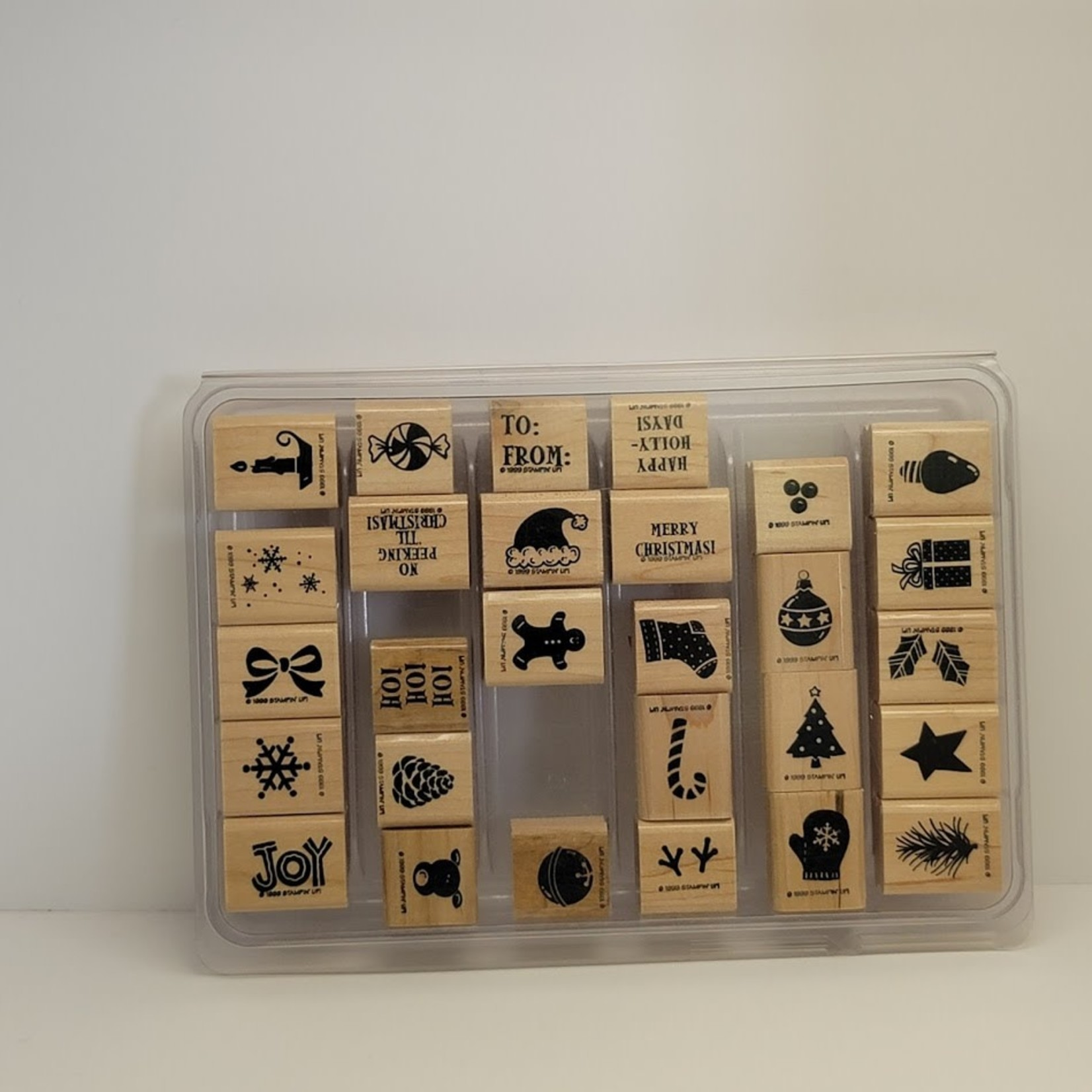 Stampin' Up Stampin' Up - Wooden Stamp Set -Mini Holiday Stamps