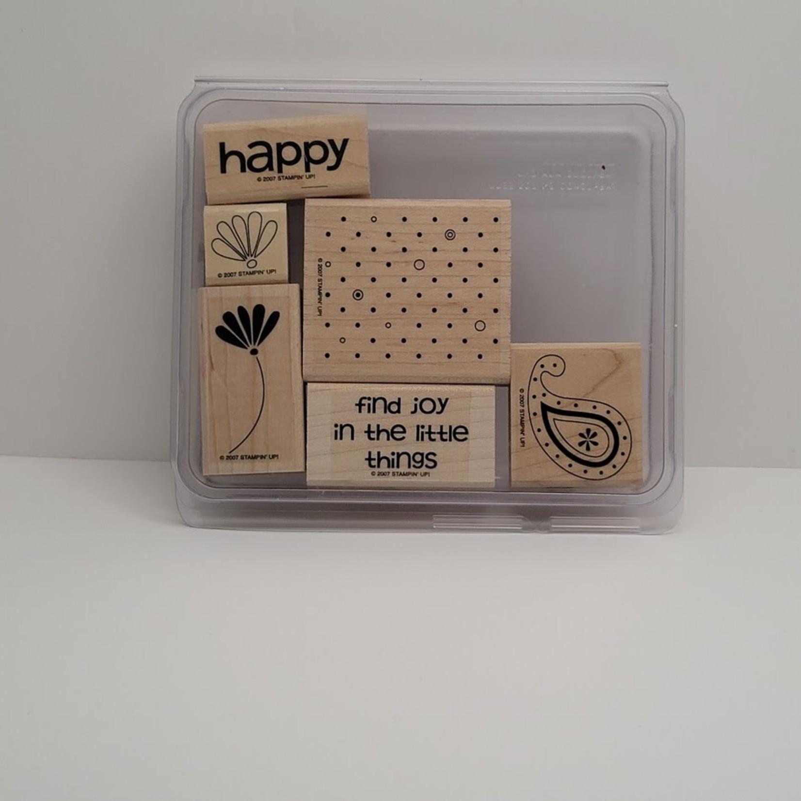Stampin' Up Stampin' Up - Wooden Stamp Set - Polka Dots and Paisley
