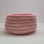 Crochet Bowl - Round -Pink