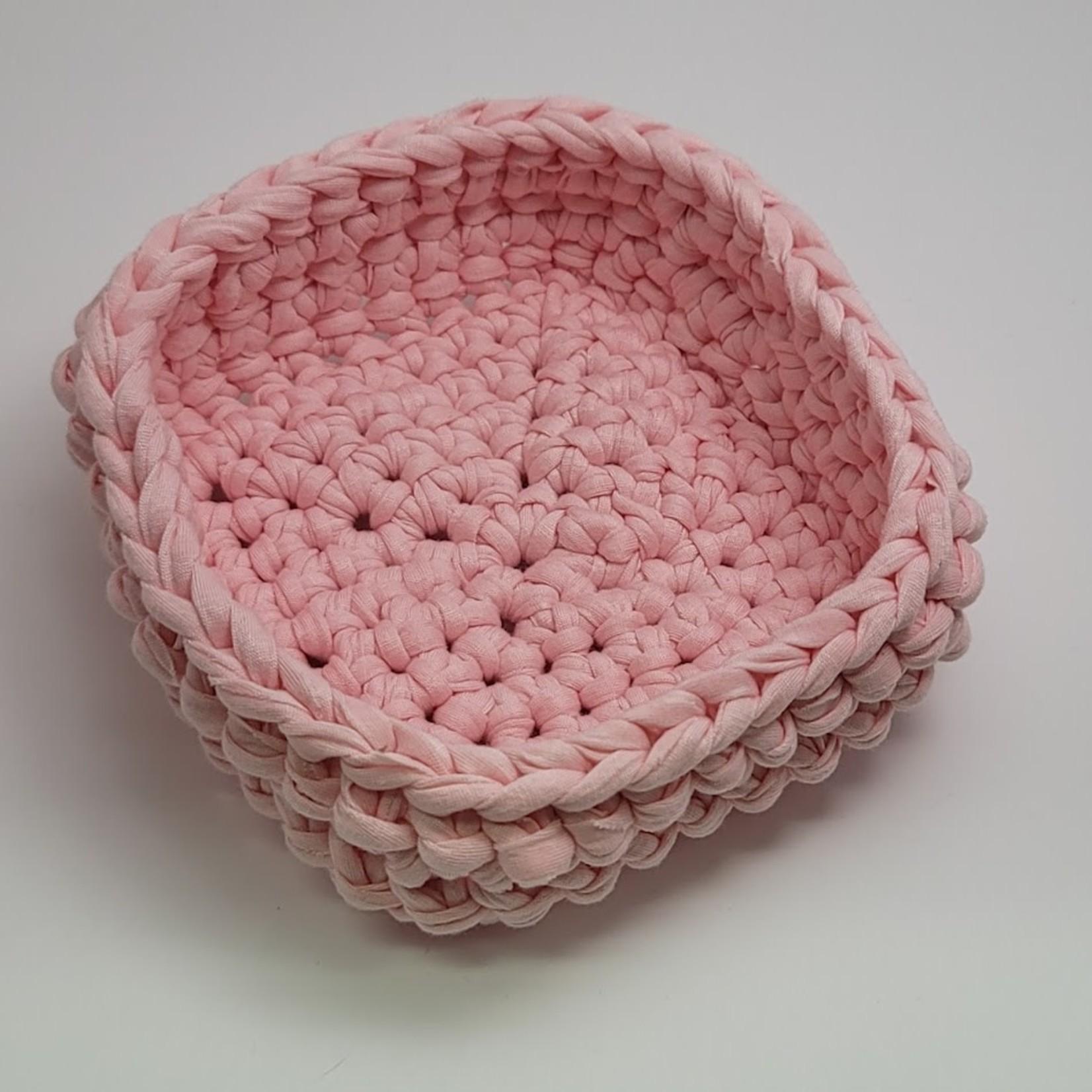 Crochet Bowl - Square - Pink
