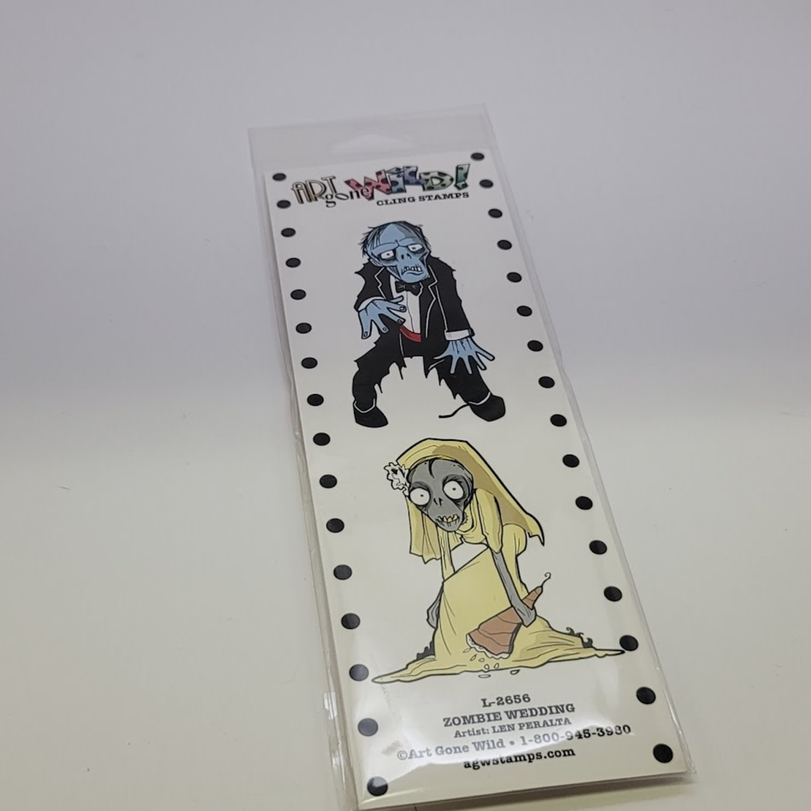 Art Gone Wild - Cling - Stamps - Zombie Wedding