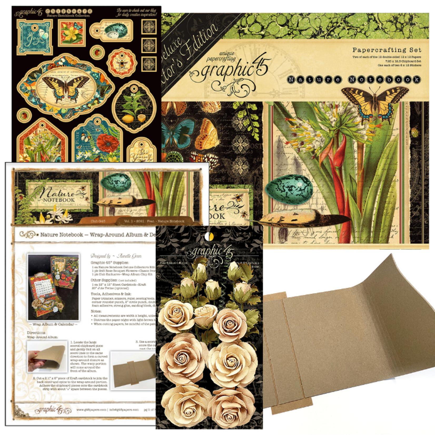 Graphic 45 Graphic 45 - Club45 - Nature Notebook -  Wrap-Arpund Album & Desktop Calendar
