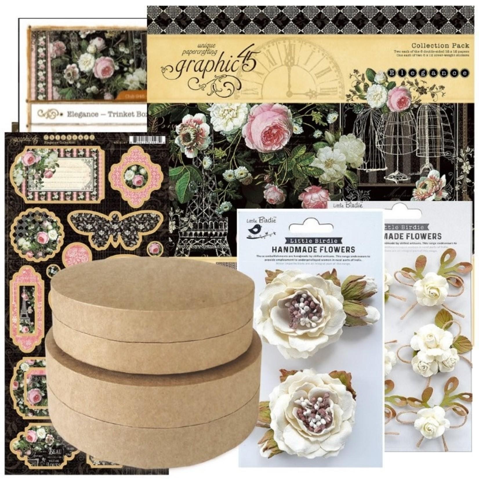 Graphic 45 Graphic 45 - Club45 - Elegance - Trinket Boxes & Circle Mini Album