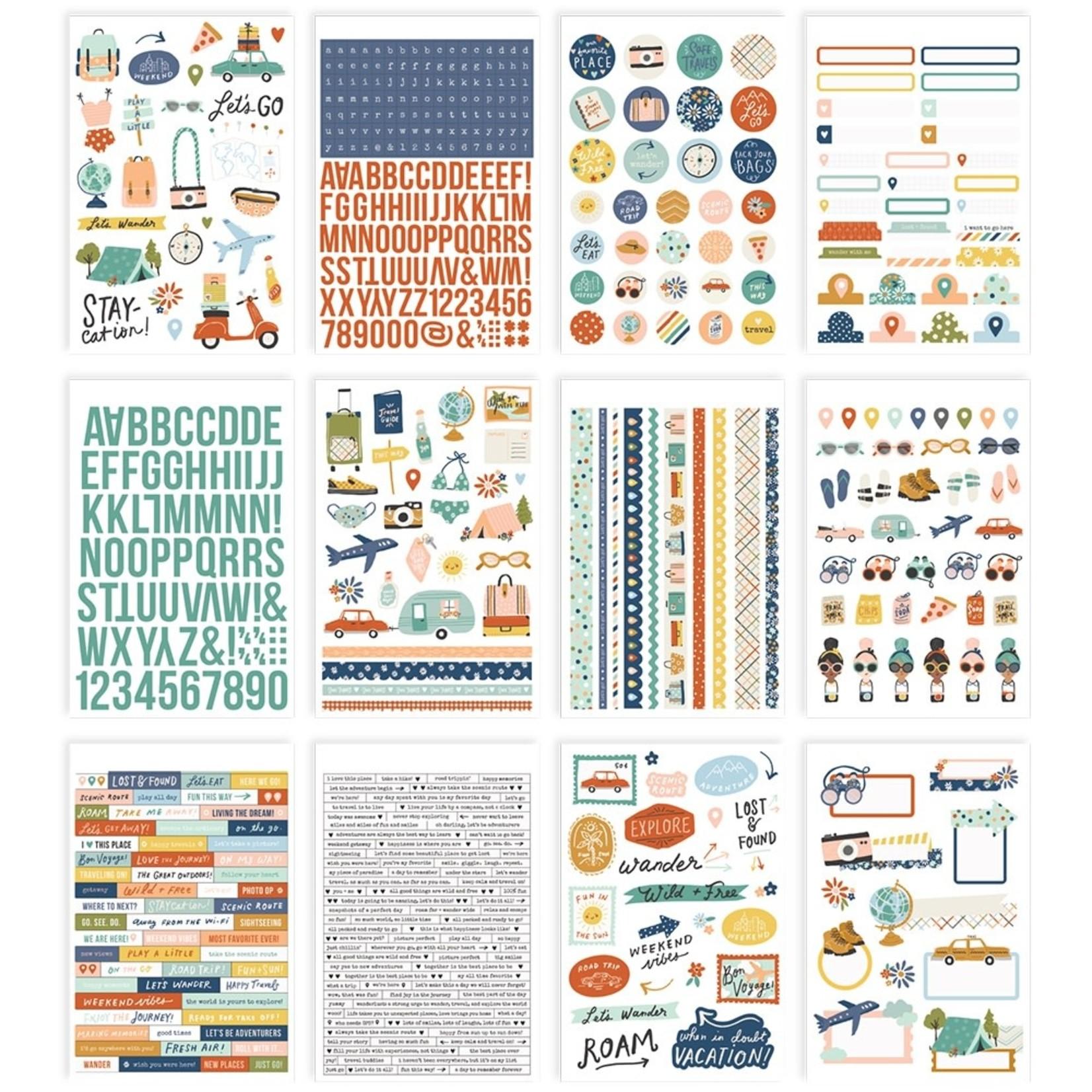 Simple Stories - Sticker Book - Safe Travels