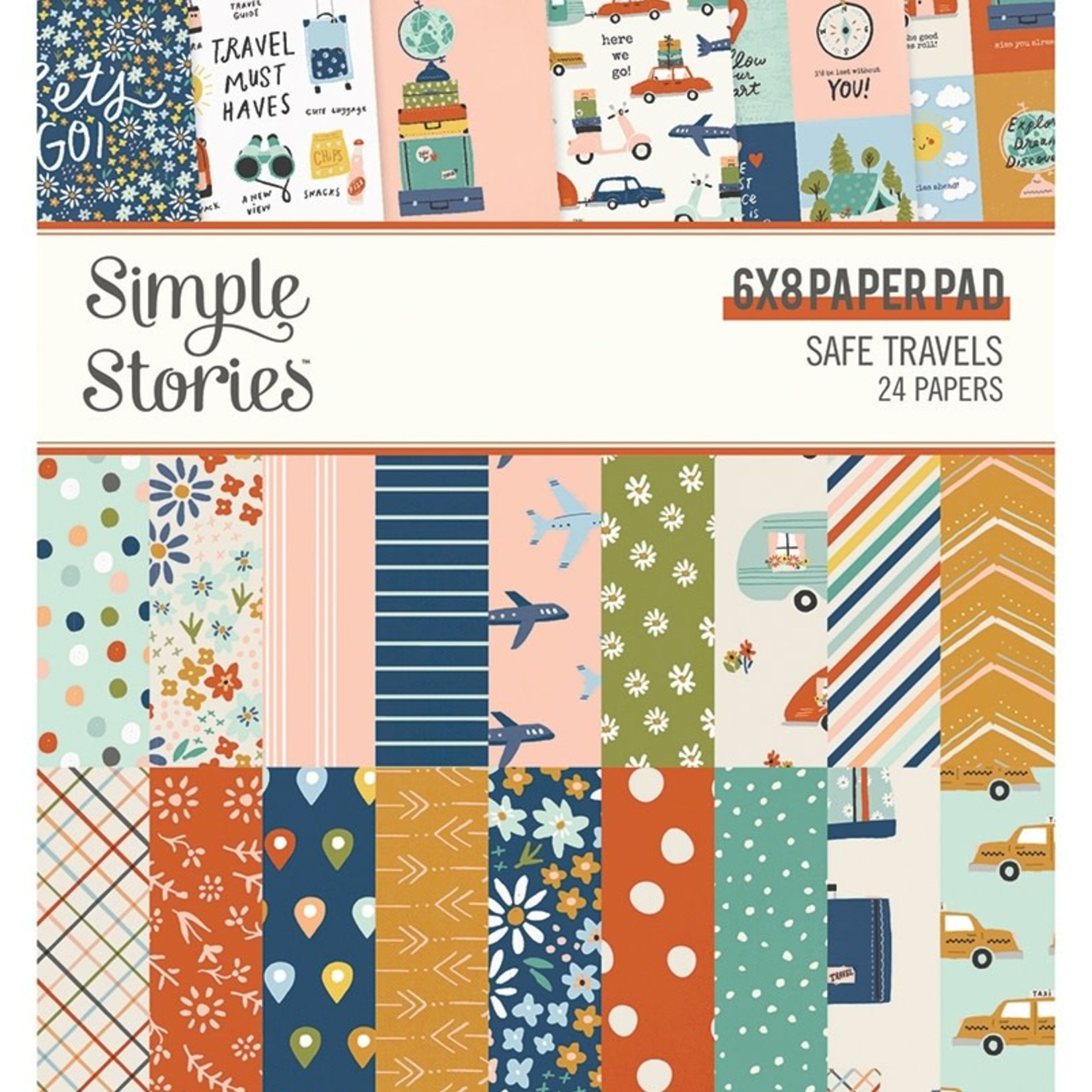"""Simple Stories Simple Stories - 6"""" x 8"""" Paper Pad - Safe Travels"""