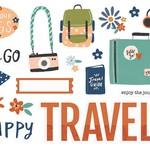 Simple Stories Simple Stories - Simple Pages Page Peices - Happy Travels