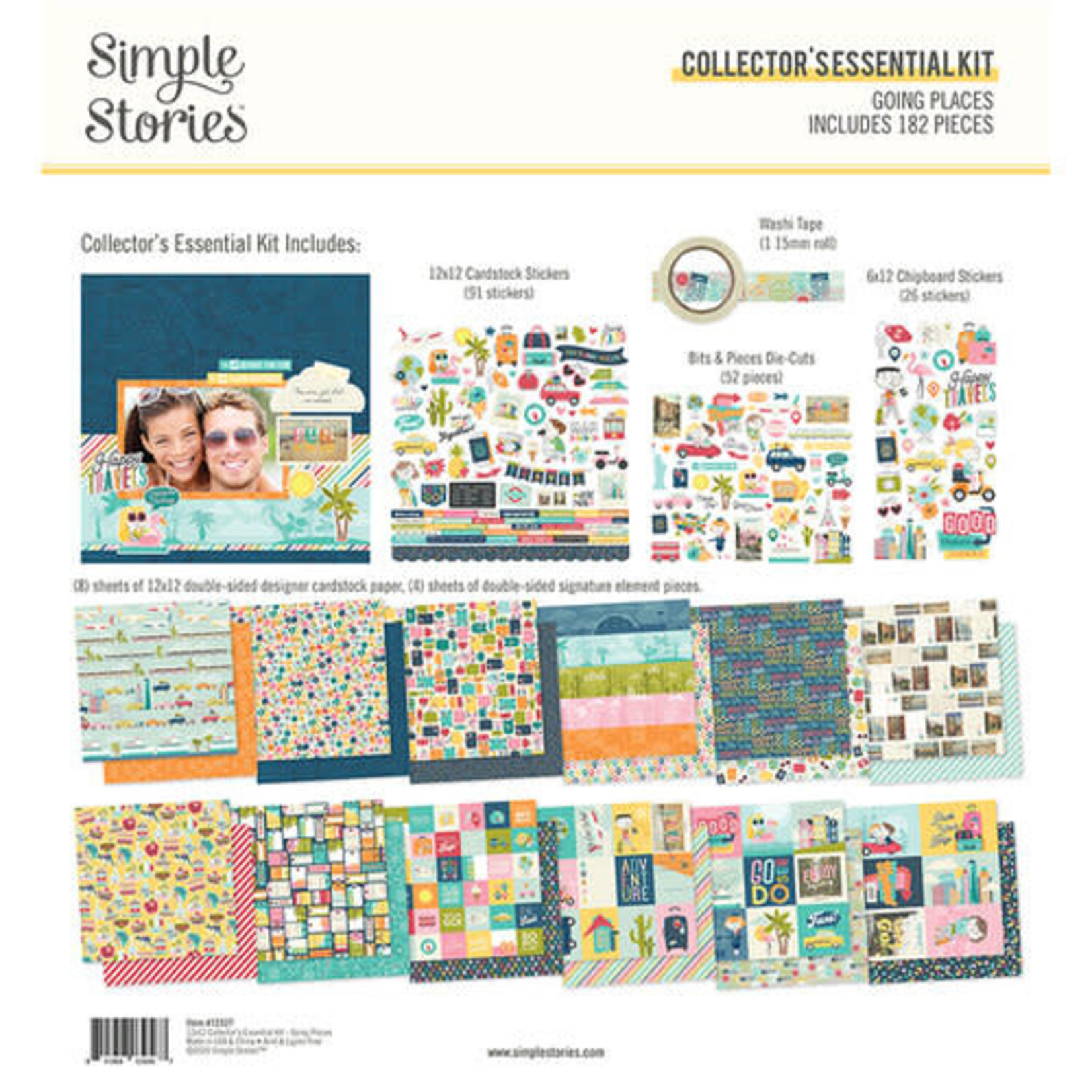 Simple Stories Simple Stories - Collector's Essential Kit - Going Places