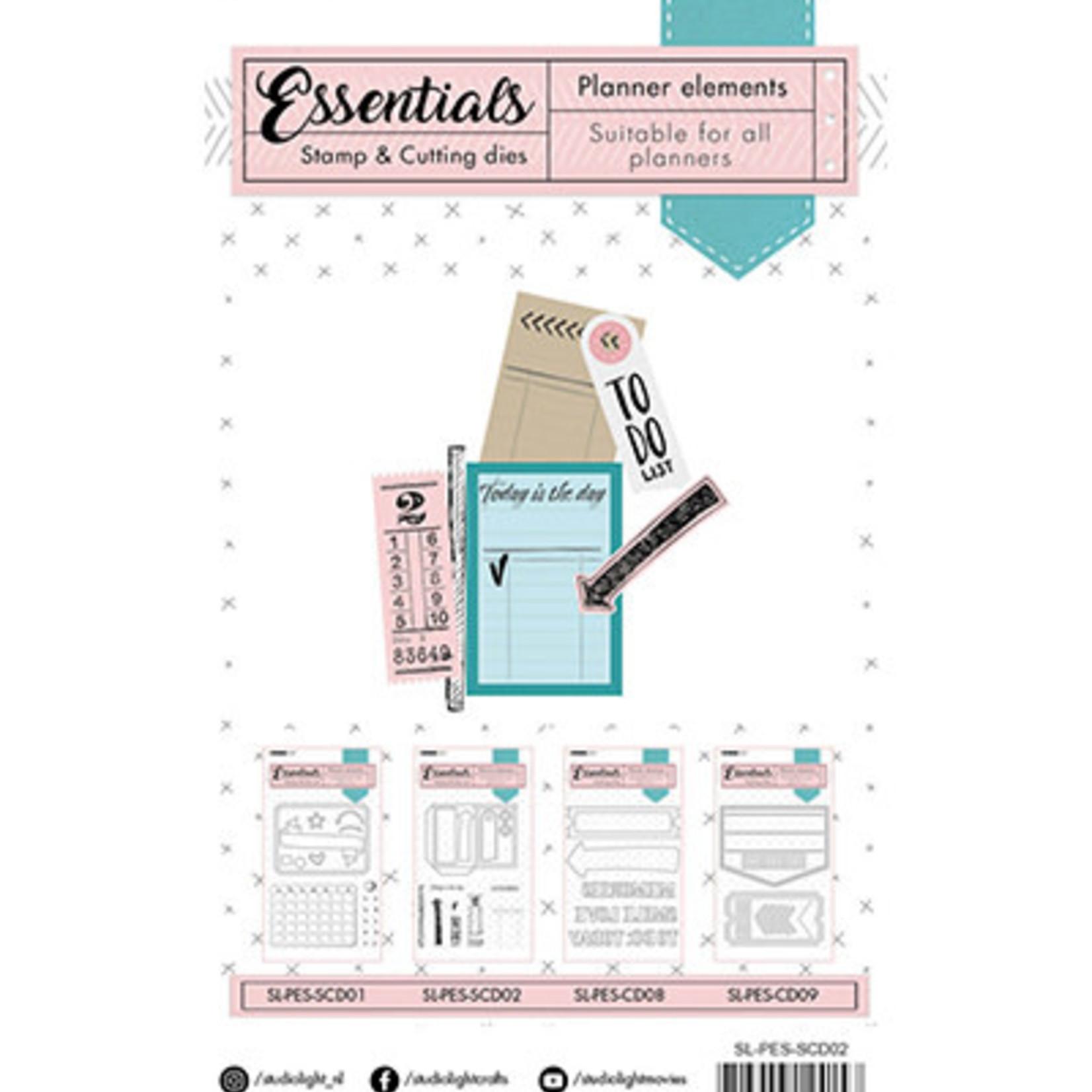 Studio Light Studio Light - Essentials Stamp & Cutting Dies - Planner Elements - SL-PES-SCD02