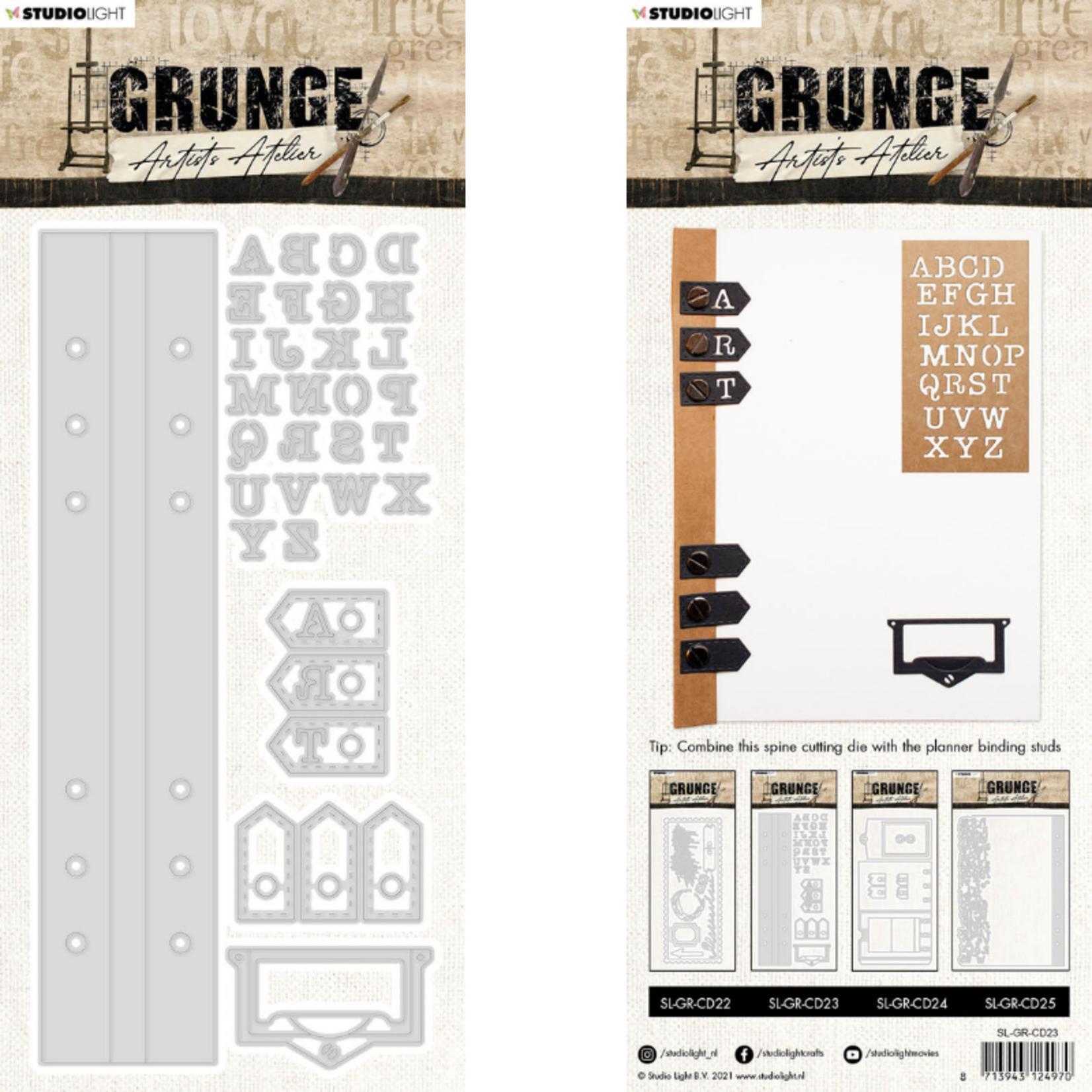 Studio Light Studio Light - Grunge Artist's Atelier -  Essentials Cutting Dies - Spine Cutting - SL-GR-CD23