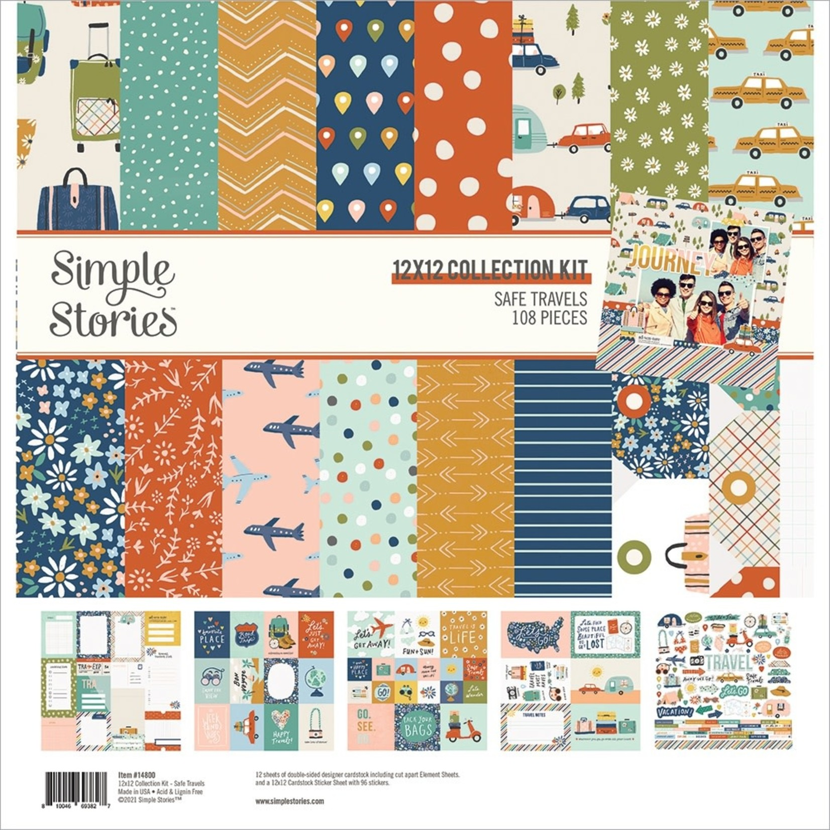 Simple Stories Simple Stories - 12 x 12 Collection - Safe Travels