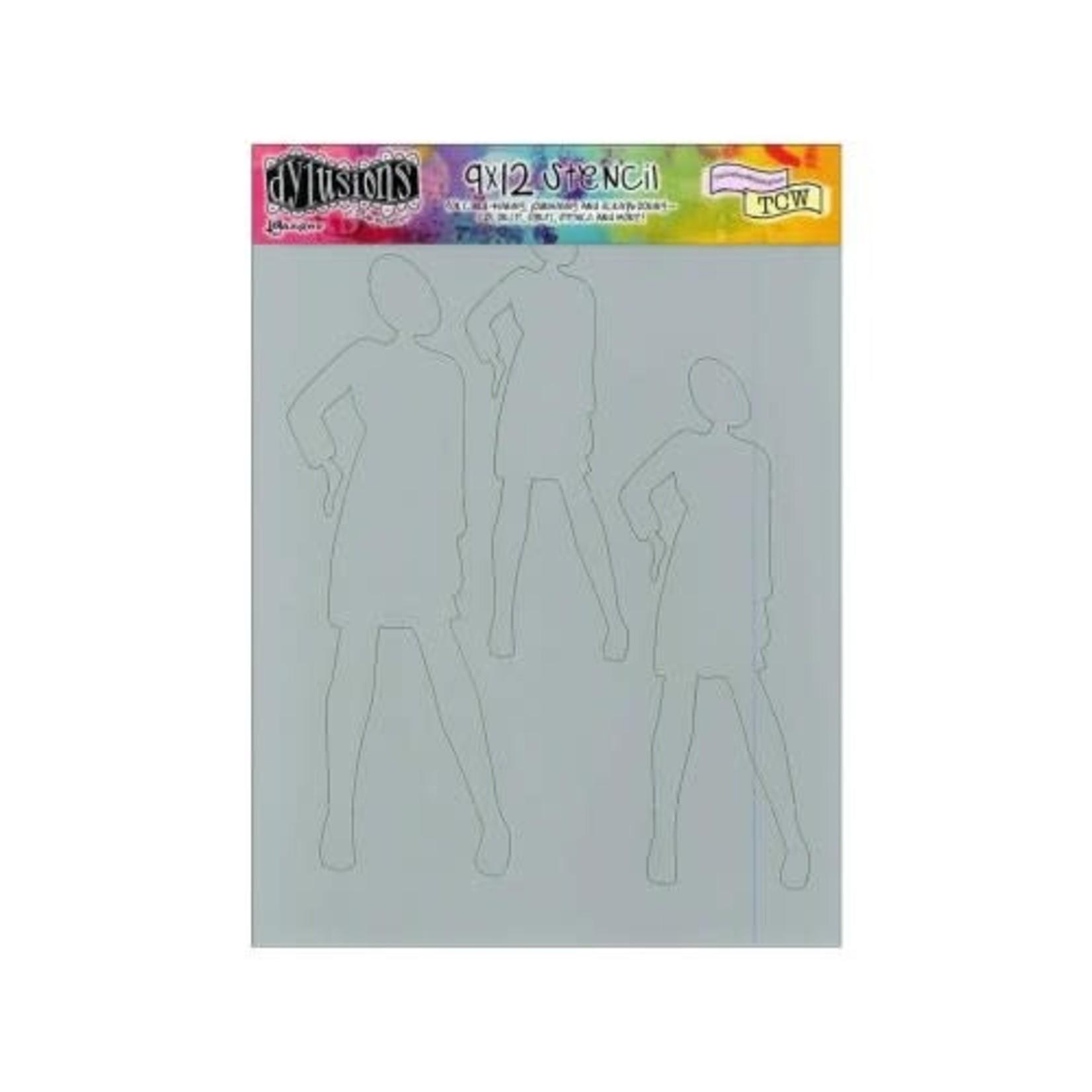 """Ranger Dylusions Stencil 9""""x12""""  - Annie - Dyan Reaveley"""