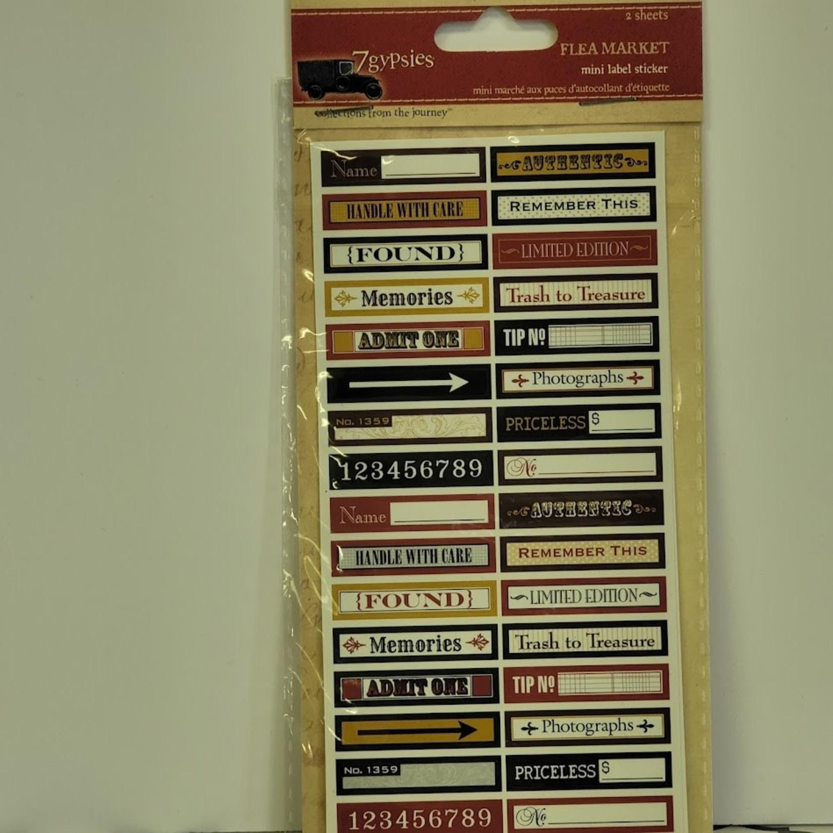 7gypsies - mini label stickers - Flea Market