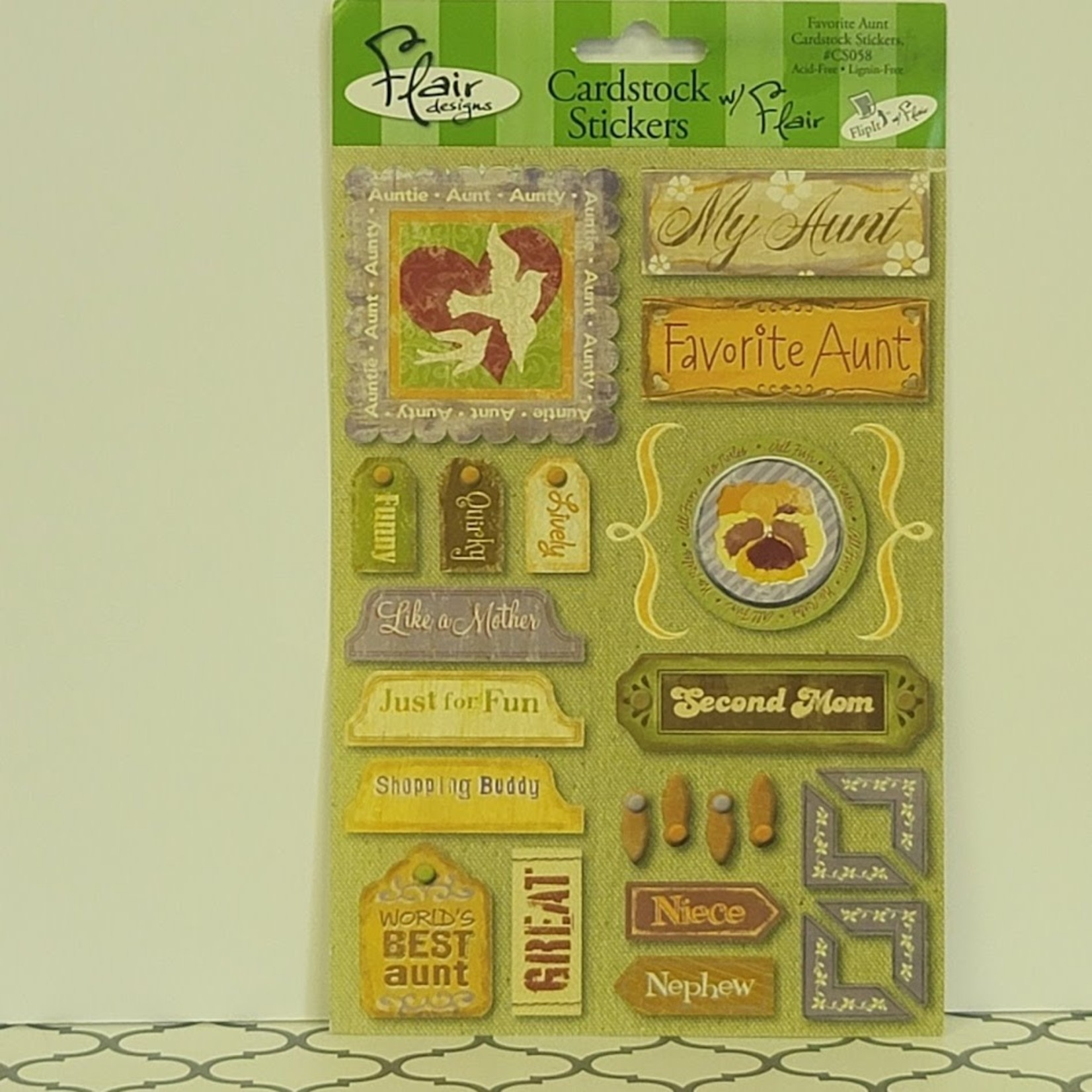 Cardstock Stickers - Favorite Aunt