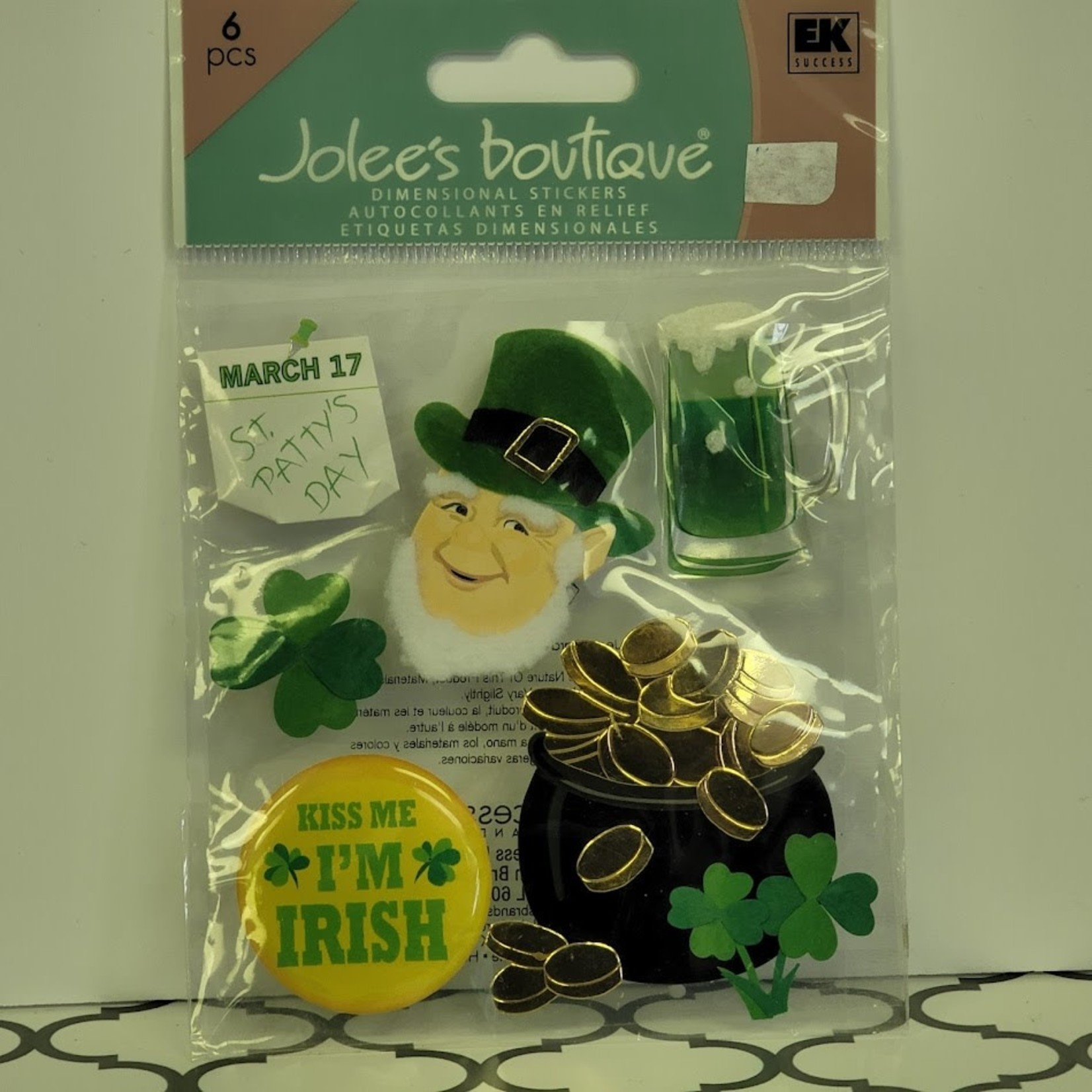 Jolee's Boutique - Dimensional Stickers - Happy St. Patrick's Day