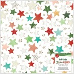 Vicki Boutin Vicki Boutin - Warm Wishes Collection - Christmas - 12 x 12 Specialty Paper - Vellum with Champagne Gold Foil Accents