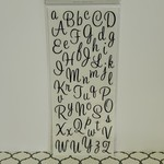 Letter Stickers - Black Cursive