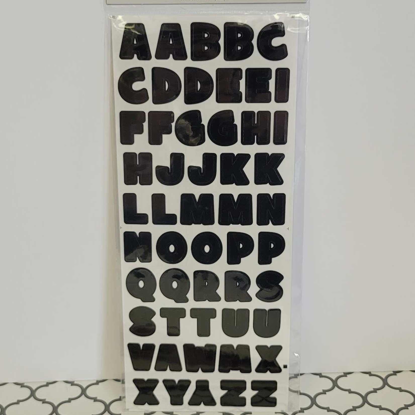 Letter Stickers - Black Bold