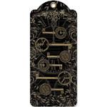 "Graphic 45 Graphic 45 Staples Metal Clock Keys 6/Pkg-Antique Brass 2""X1"" To 3""X1.125"""