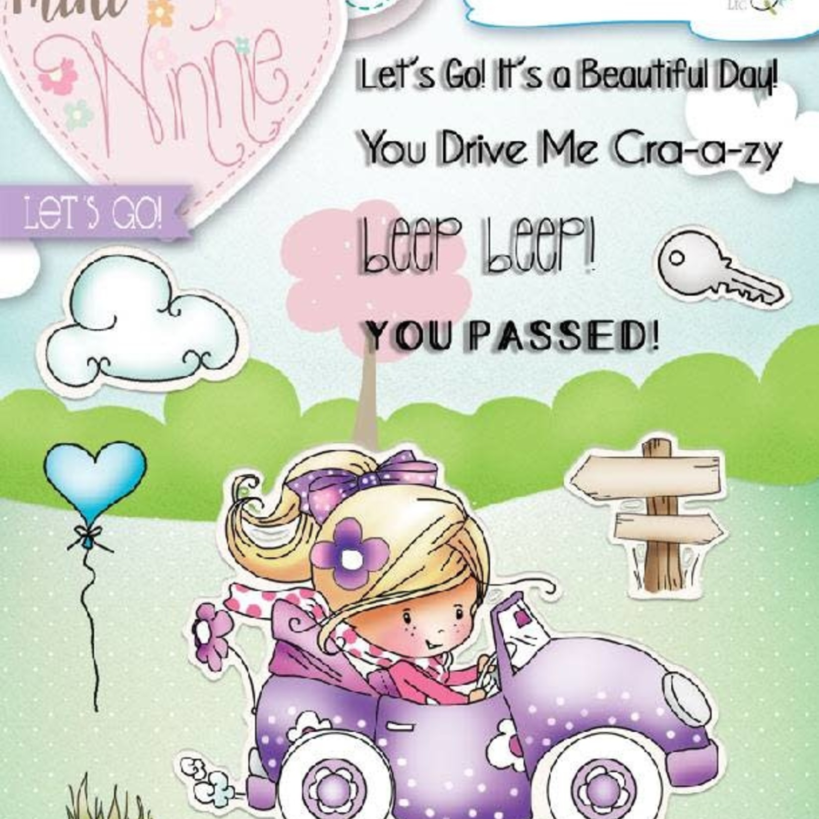 LDRS - Mini Winnie - Lets Go - Clear Stamps and Die