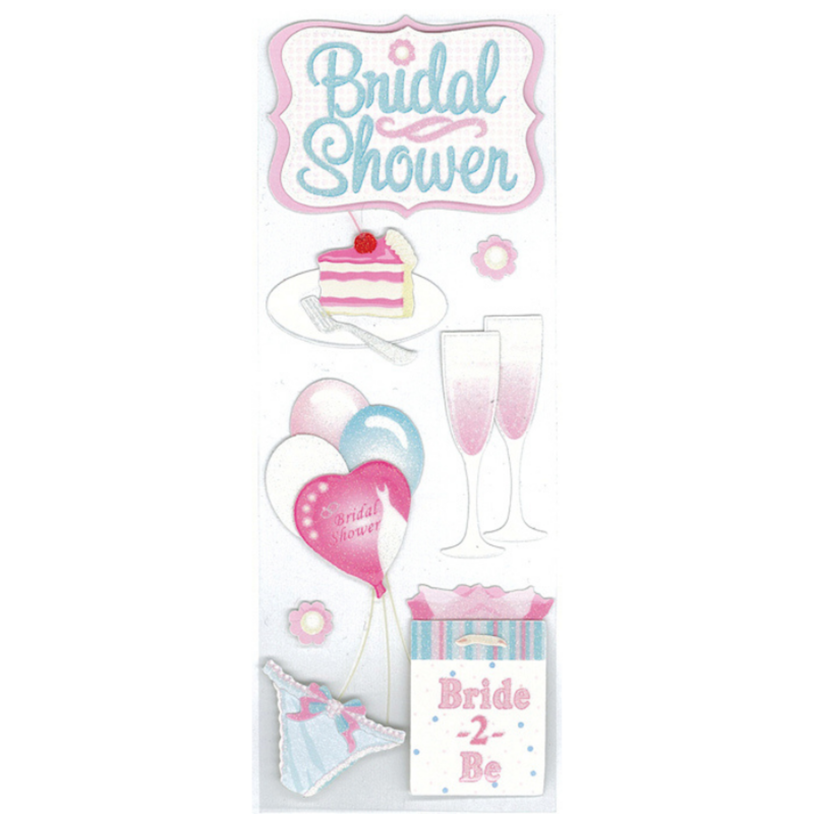 Touch Of Jolee's Dimensional Stickers-Bridal Shower