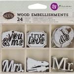 Prima Marketing Prima Marketing - Wood Embellishments - Something Blue