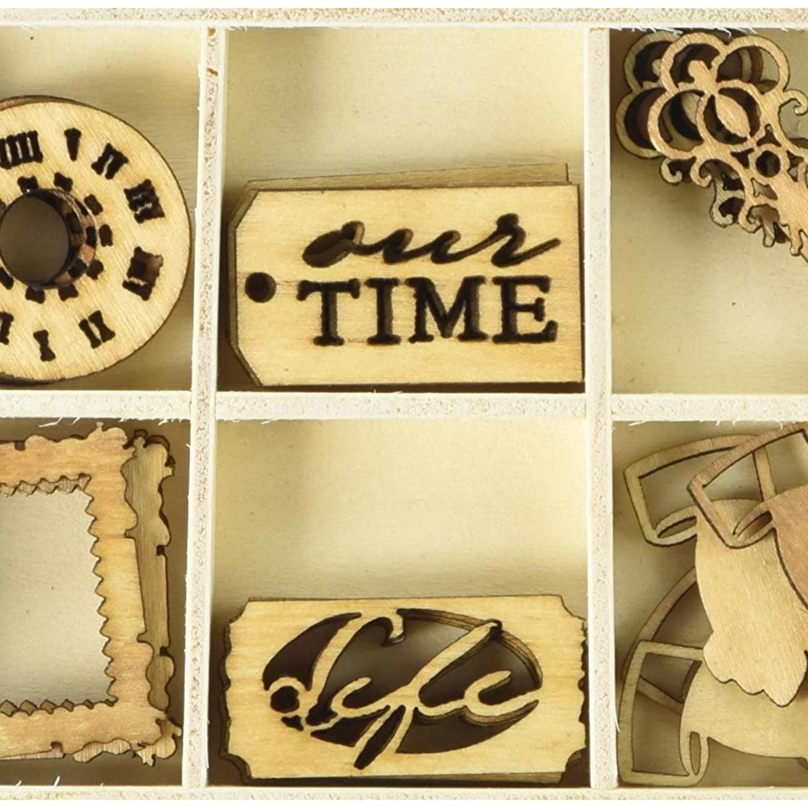 Prima Marketing Prima Marketing - Wood Embellishments - Time Traveler's Memories