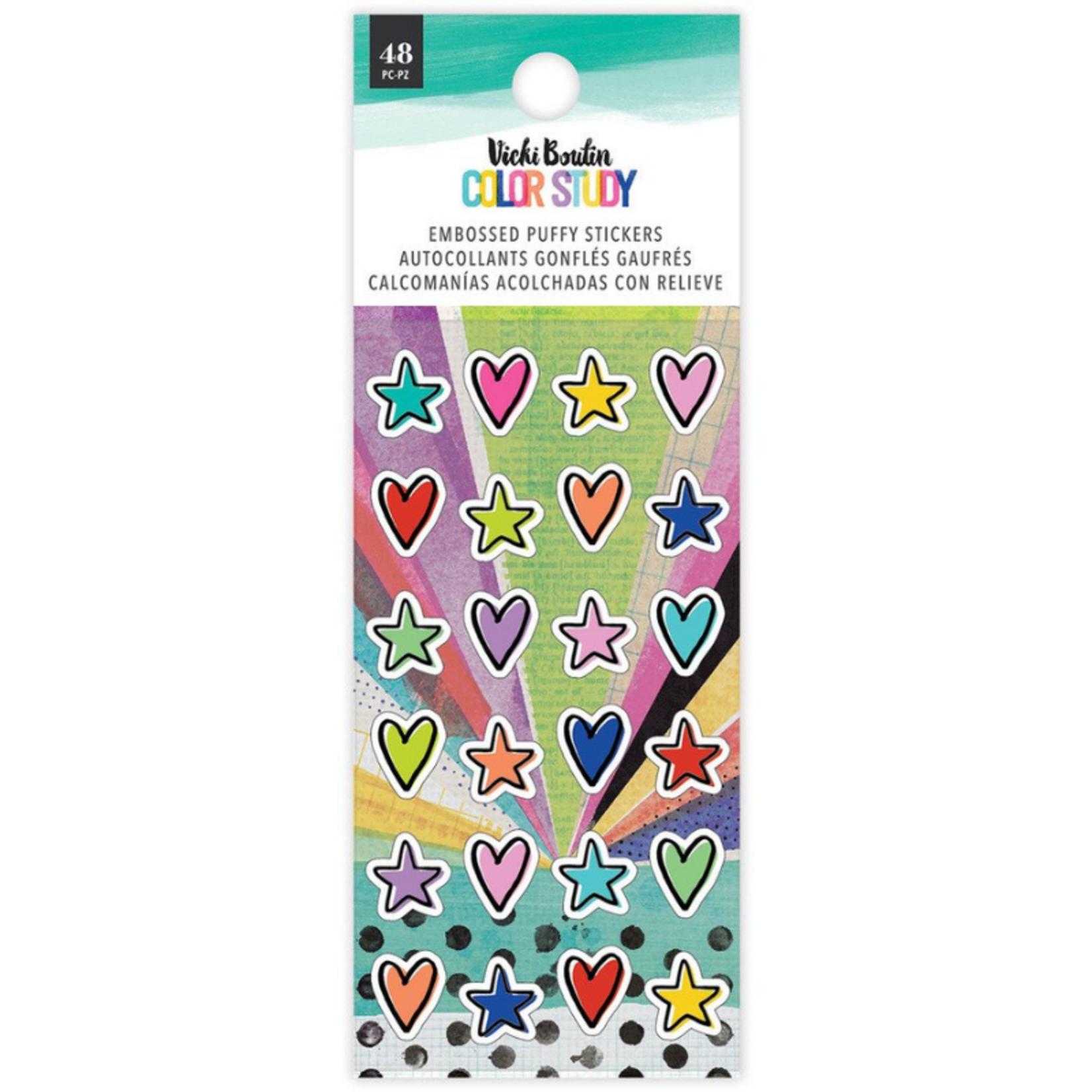 Vicki Boutin Vicki Boutin - Color Study - Embossed Puffy Stickers