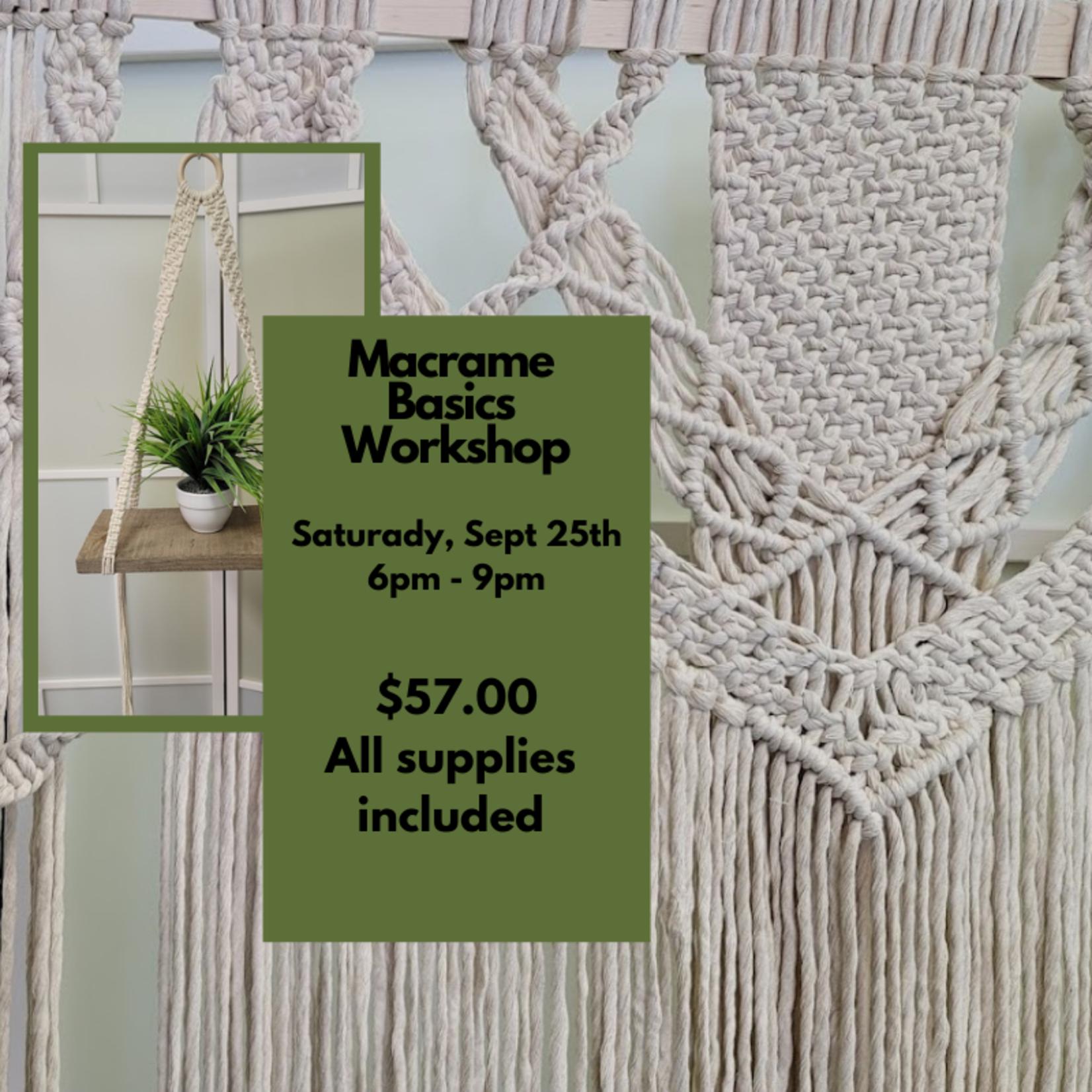Macrame Basics Workshop - September 25th 6pm