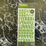 American Crafts thickers - Chipboard Glitter Letter Stickers - Bright Green