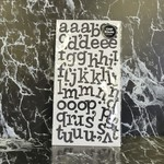 American Crafts thickers - Sprinkles - Glitter Letter Stickers - Chipboard - Black