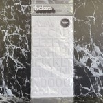American Crafts thickers-Dolce- Fabric Letter Stickers - White