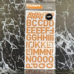 American Crafts thickers-Dolce- Fabric Letter Stickers - Orange