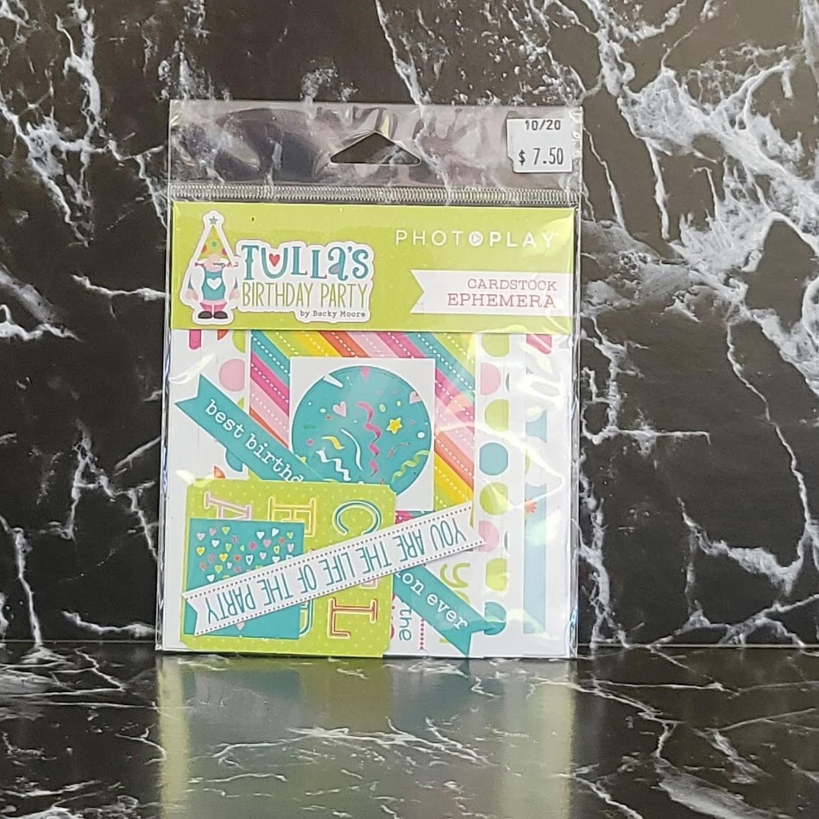 PhotoPlay Photo Play - Cardstock Ephemera - Tulla's Birthday