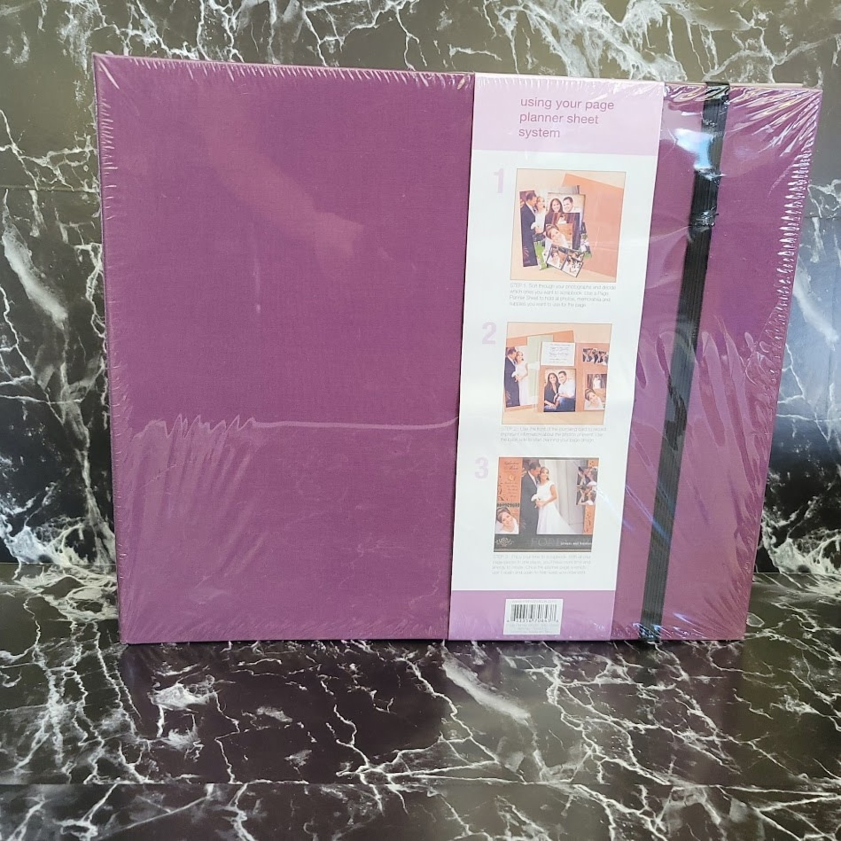 "Memory Dock - 12"" x 12"" D-Ring Album - Purple"