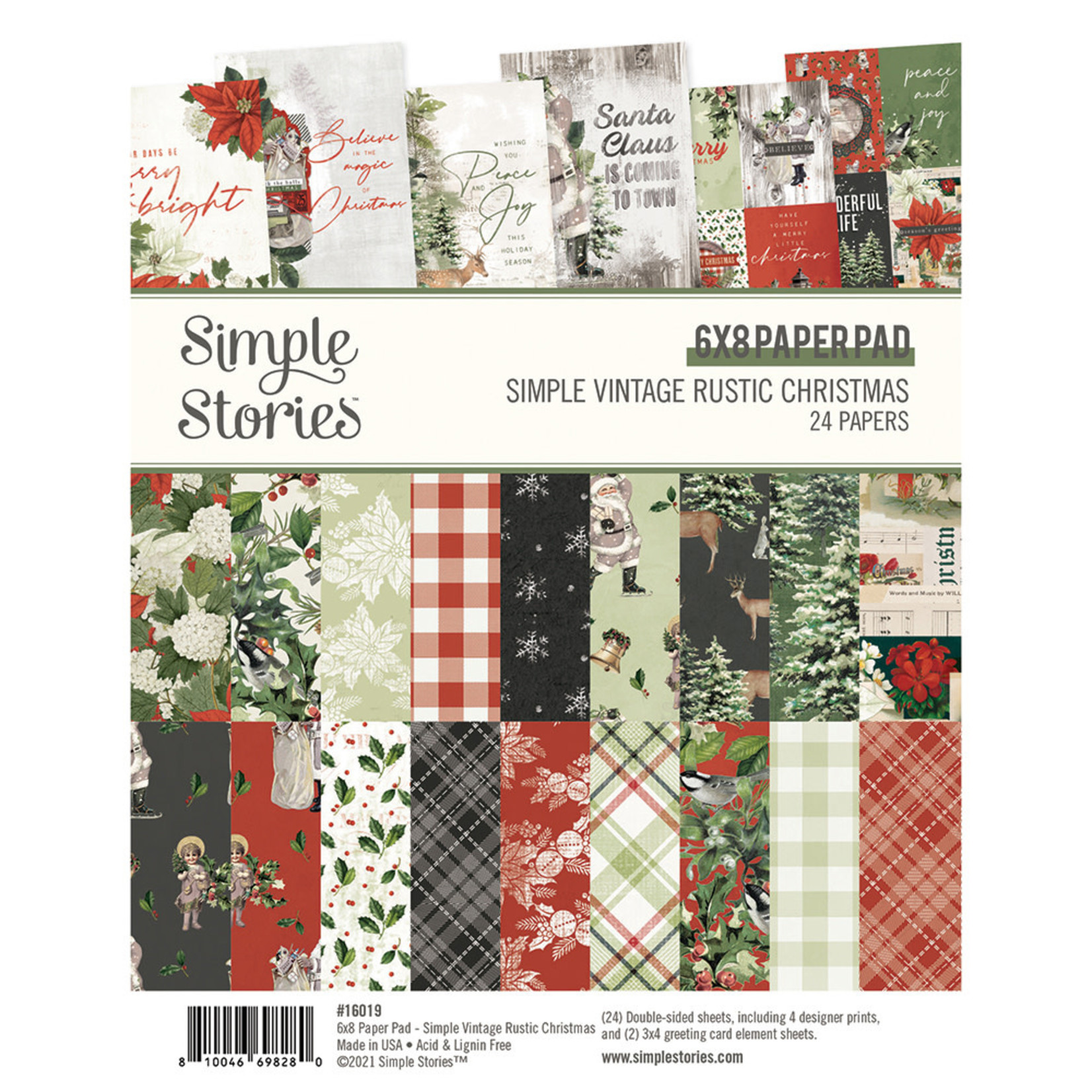 Simple Stories Simple Stories - Simple Vintage Rustic Christmas Collection - 6 x 8 Paper Pad