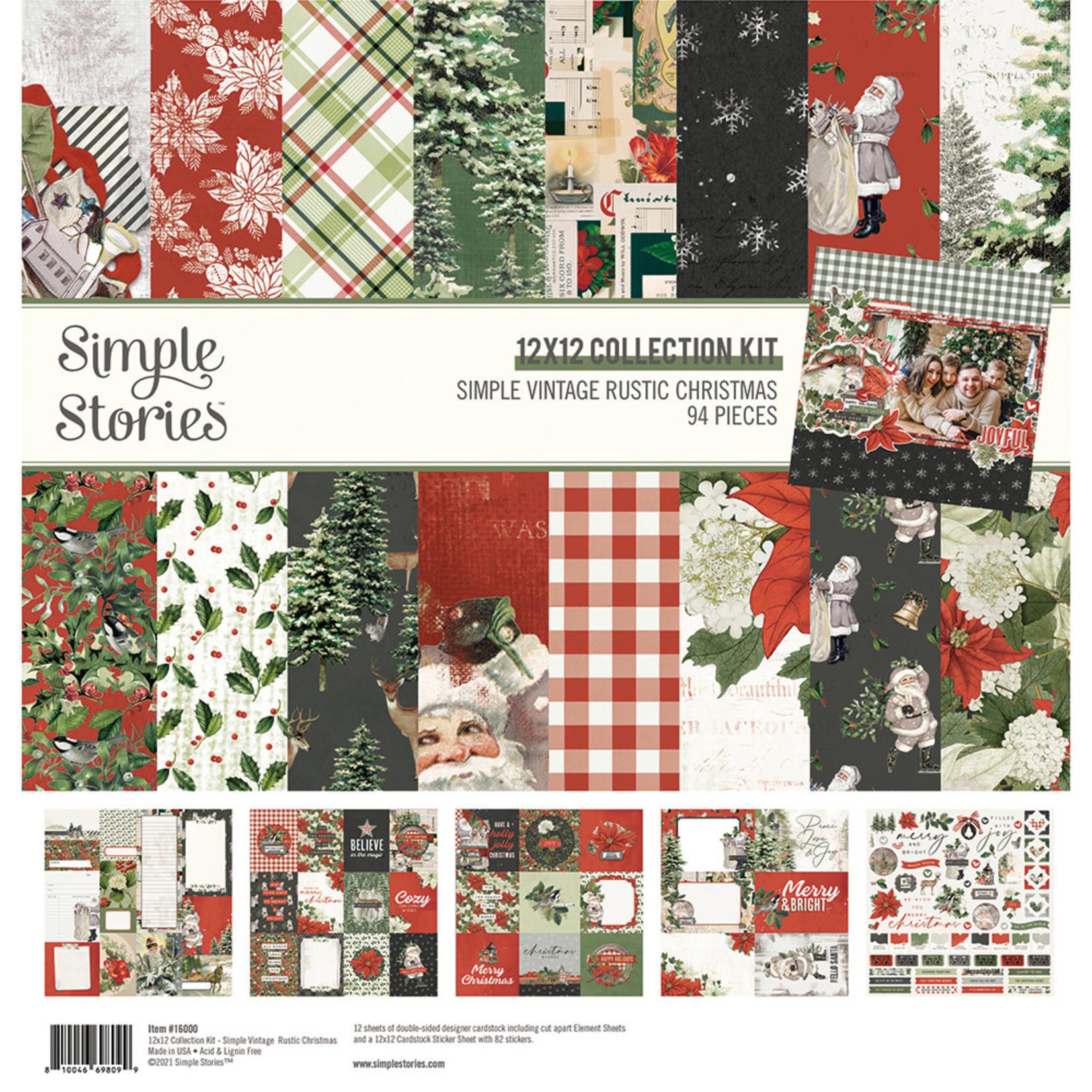 Simple Stories Simple Stories - Simple Vintage Rustic Christmas Collection - 12x12 Collection Kit