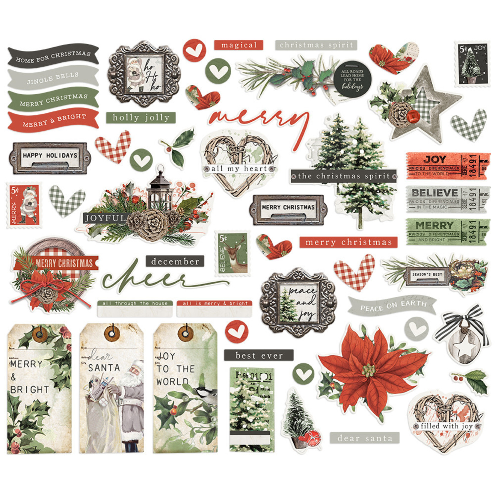 Simple Stories Simple Stories - Simple Vintage Rustic Christmas Collection - Bits & Pieces
