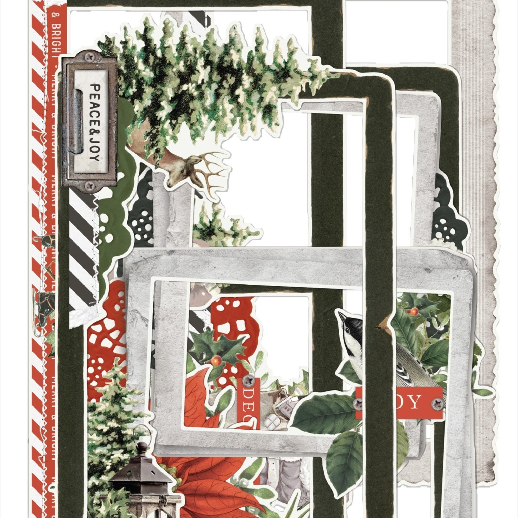 Simple Stories Simple Stories - Simple Vintage Rustic Christmas Collection - Chipboard Frames