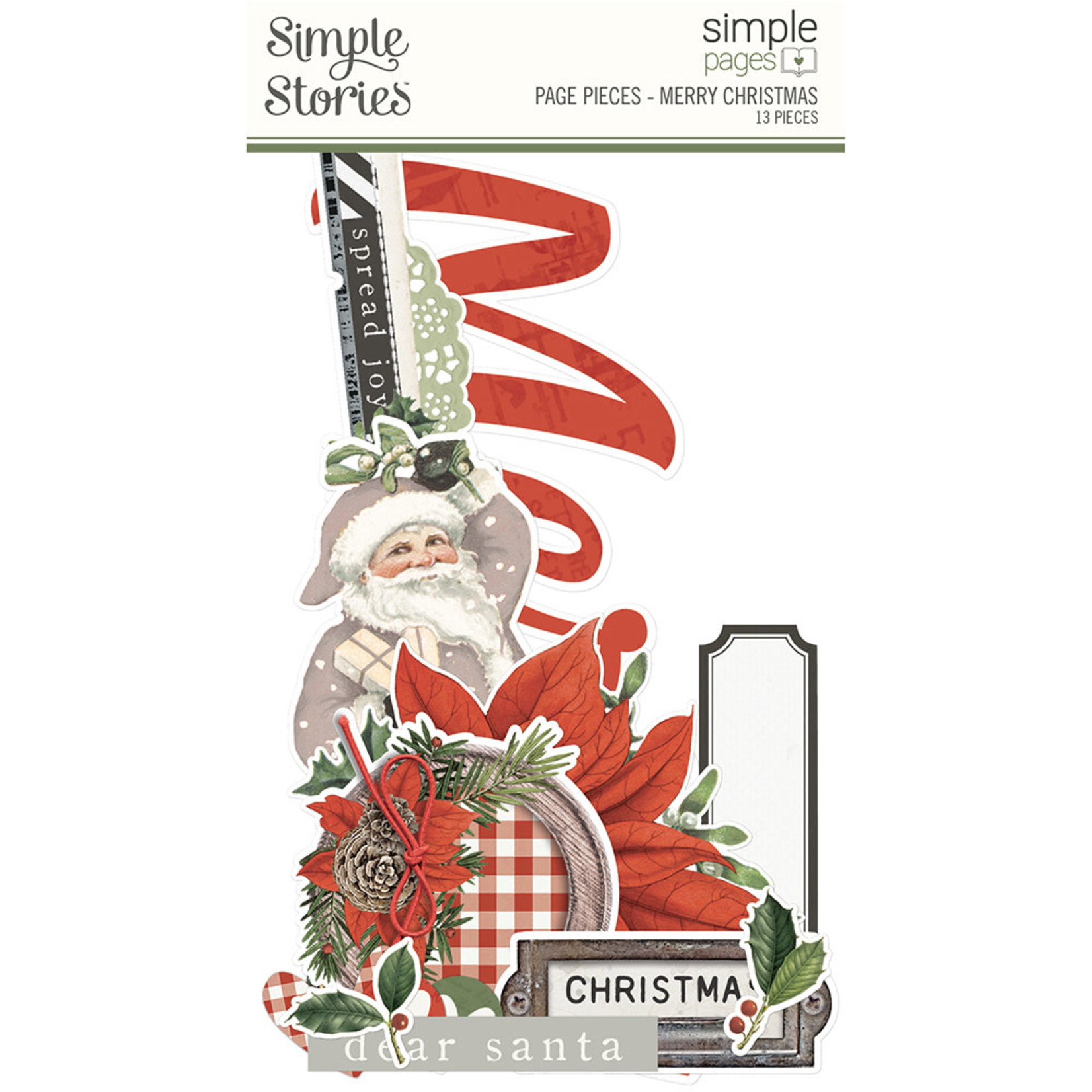 Simple Stories Simple Stories - Simple Pages - Page Pieces -  Merry Christmas