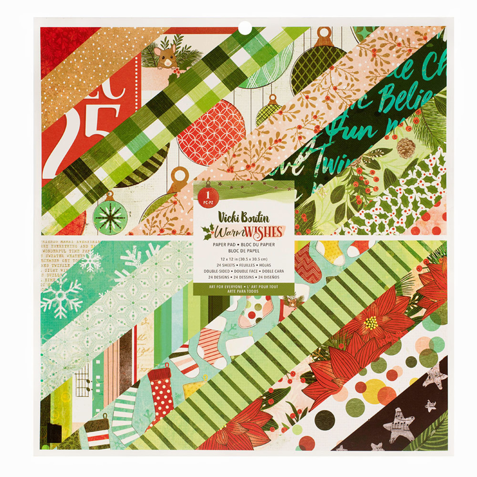 Vicki Boutin Vicki Boutin - Warm Wishes Collection - 12x12 Paper Pad