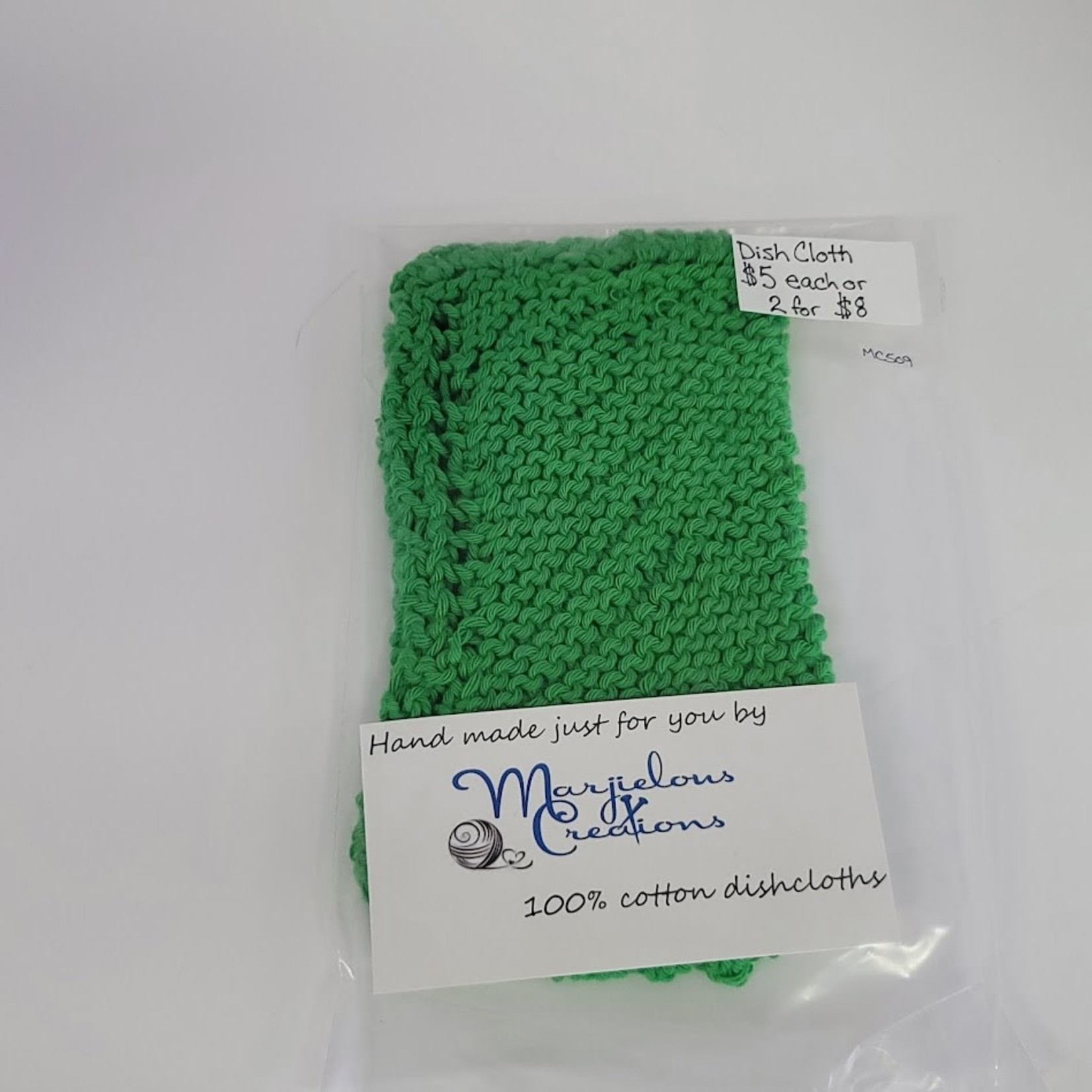 Marjielous Creations 100% Cotton Dishcloth