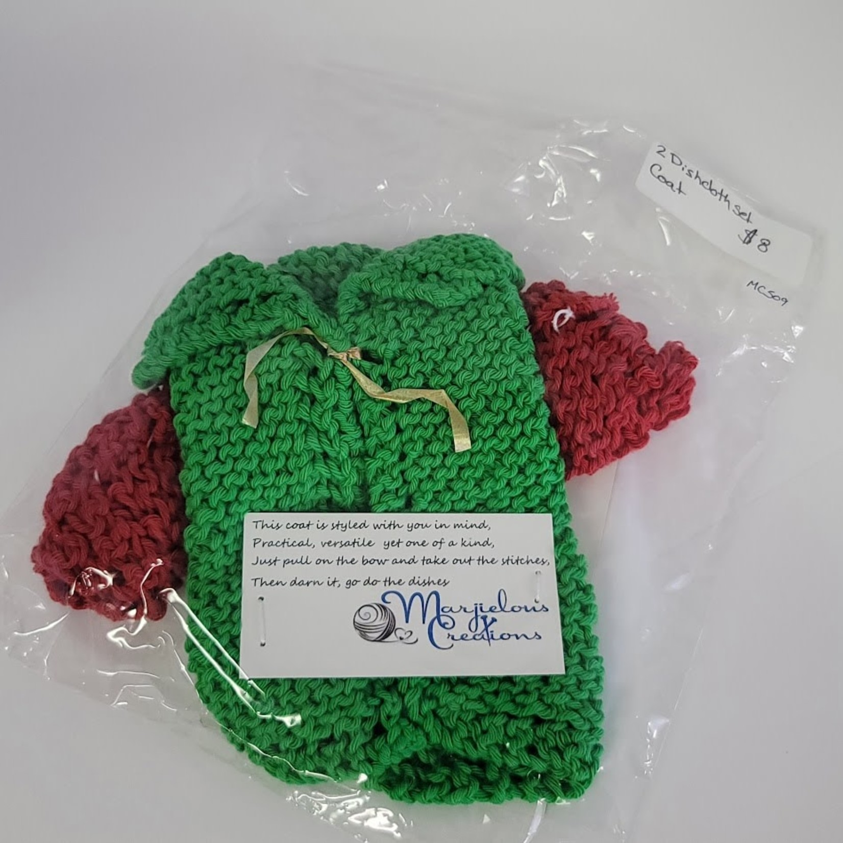 Marjielous Creations Dishcloth Coat (set of 2) 100% Cotton