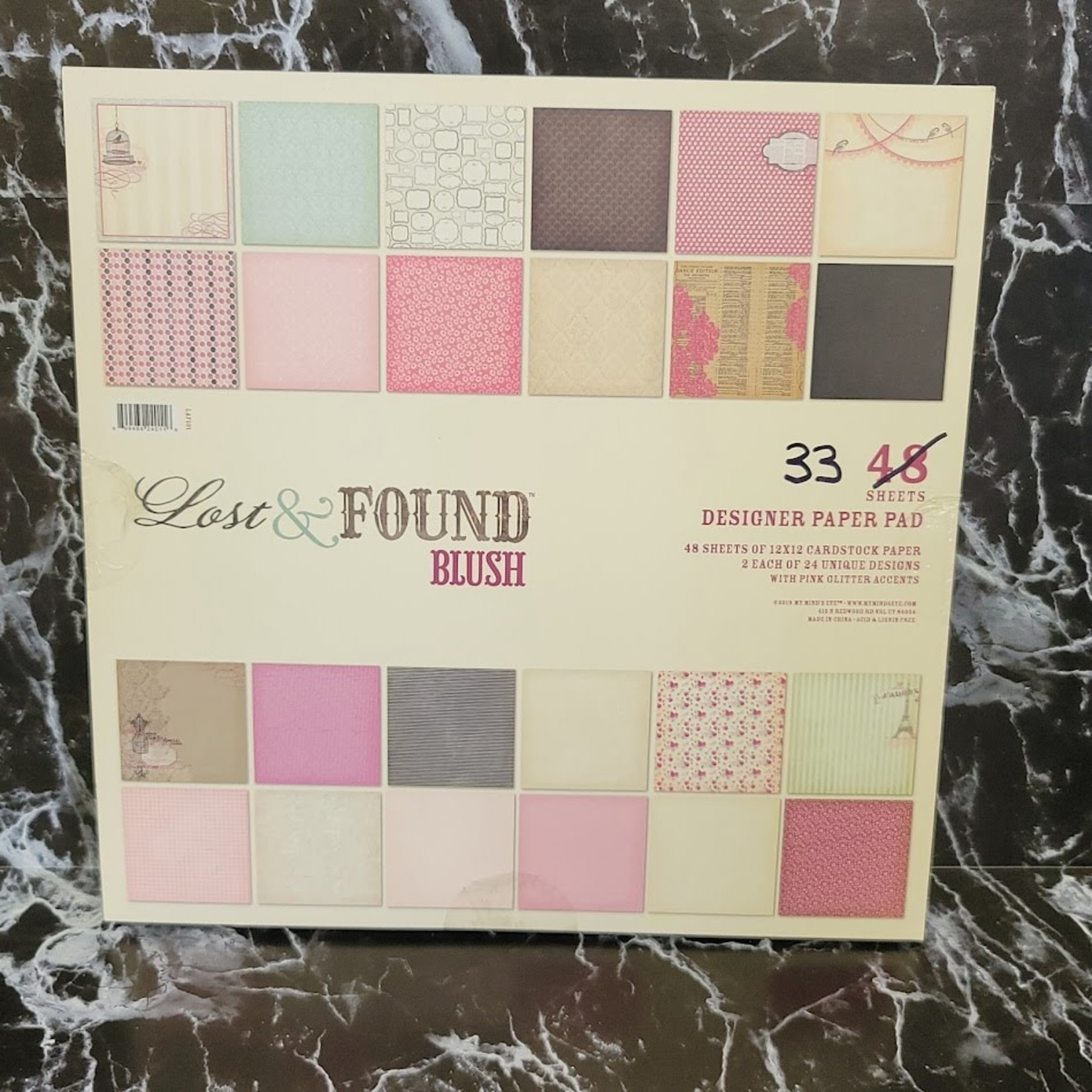 Lost & Found Designer Paper Pad - 33 12 x 12 sheets